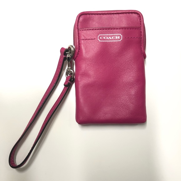 Coach Handbags - COACH pink wristlet